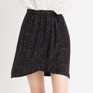 Madewell 100% Silk Mini Skirt polka dot